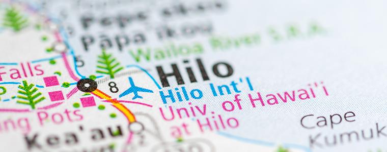 Map of Hilo area
